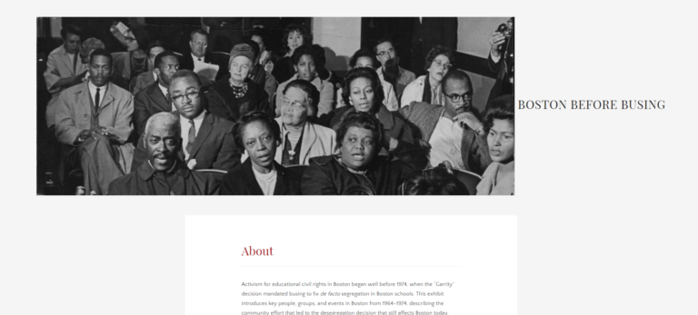 This exhibit from public history student Martha Pearson explore the era leading up to desegregation using materials from Northeastern's collections